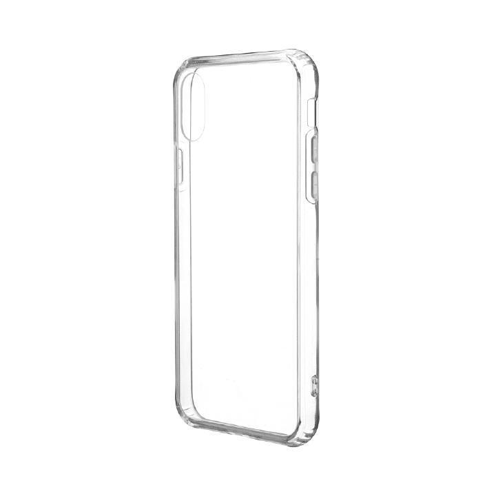 iPhone XS/X ケース 「剛柔」 超透過・耐傷ケース「ガラスハイブリッドクリア」 クリア iPhone XS/X_0