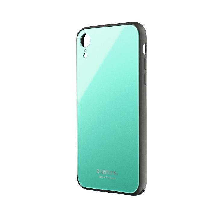 iPhone XR ケース 背面ガラスシェルケース「SHELL GLASS」 グリーン iPhone XR_0