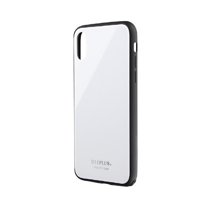 iPhone XS/X ケース 背面ガラスシェルケース「SHELL GLASS」 ホワイト iPhone XS/X_0