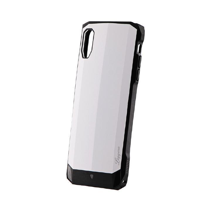 【iPhone XS Maxケース】耐衝撃ハイブリッドケース「LEGGERA」 ソリッドホワイト iPhone XS Max_0