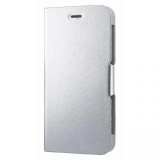 スタンド機能付き手帳型ケース シルバー iPhone 6s Plus/6 Plus