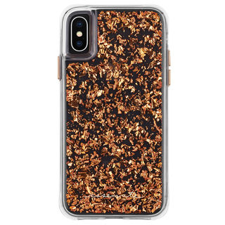 iPhone XS/X ケース Case-Mate Karat-Rose Gold ワイヤレス充電対応 金箔ケース pink iPhone XS/X