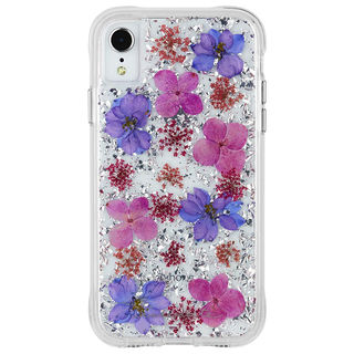 【iPhone XSケース】Case-Mate Karat Petals ワイヤレス充電対応 押し花ケース purple iPhone XS