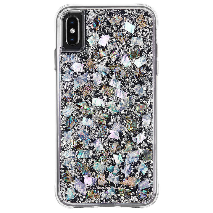 iPhone XS Max ケース Case-Mate Karat-Pearl ワイヤレス充電対応 真珠貝細工ケース silver iPhone XS Max_0