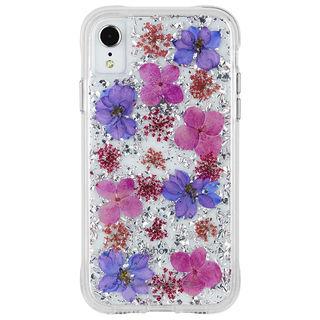 【iPhone XRケース】Case-Mate Karat Petals ワイヤレス充電対応 押し花ケース purple iPhone XR【9月下旬】