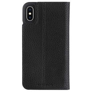 【iPhone XRケース】Case-Mate Barely There Folio 二つ折手帳型ケース black iPhone XR