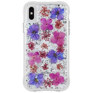 【iPhone XS Maxケース】Case-Mate Karat Petals ワイヤレス充電対応 押し花ケース purple iPhone XS Max