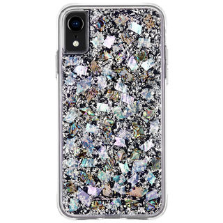 iPhone XR ケース Case-Mate Karat-Pearl ワイヤレス充電対応 真珠貝細工ケース silver iPhone XR