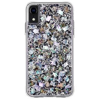 【iPhone XRケース】Case-Mate Karat-Pearl ワイヤレス充電対応 真珠貝細工ケース silver iPhone XR