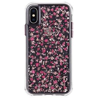 【iPhone XSケース】Case-Mate Karat Petals ワイヤレス充電対応 押し花ケース pink iPhone XS