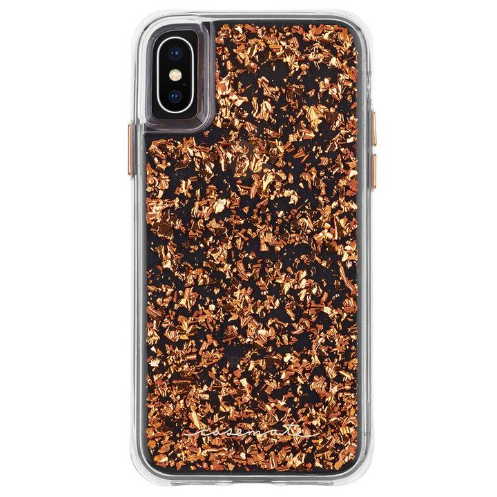 iPhone XS Max ケース Case-Mate Karat-Rose Gold ワイヤレス充電対応 金箔ケース pink iPhone XS Max_0