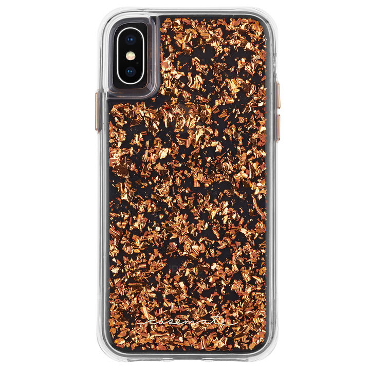 【iPhone XS Maxケース】Case-Mate Karat-Rose Gold ワイヤレス充電対応 金箔ケース pink iPhone XS Max_0