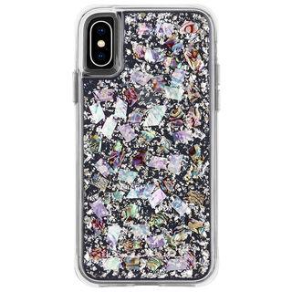 iPhone XS/X ケース Case-Mate Karat-Pearl ワイヤレス充電対応 真珠貝細工ケース silver iPhone XS/X