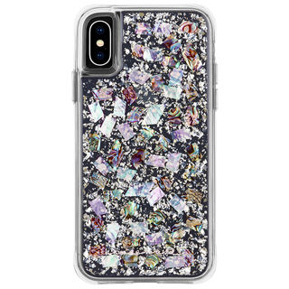 【iPhone XSケース】Case-Mate Karat-Pearl ワイヤレス充電対応 真珠貝細工ケース silver iPhone XS【10月下旬】