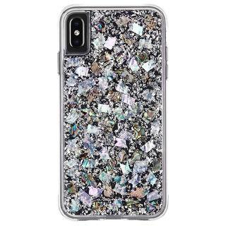 【iPhone XS Maxケース】Case-Mate Karat-Pearl ワイヤレス充電対応 真珠貝細工ケース silver iPhone XS Max