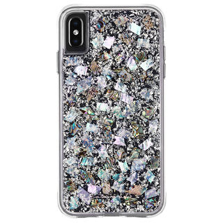 【iPhone XS Maxケース】Case-Mate Karat-Pearl ワイヤレス充電対応 真珠貝細工ケース silver iPhone XS Max【10月下旬】