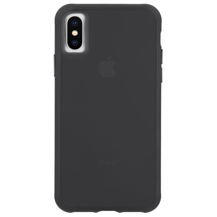 【iPhone XRケース】Case-Mate Tough Clear ケース Matte Black iPhone XR_0