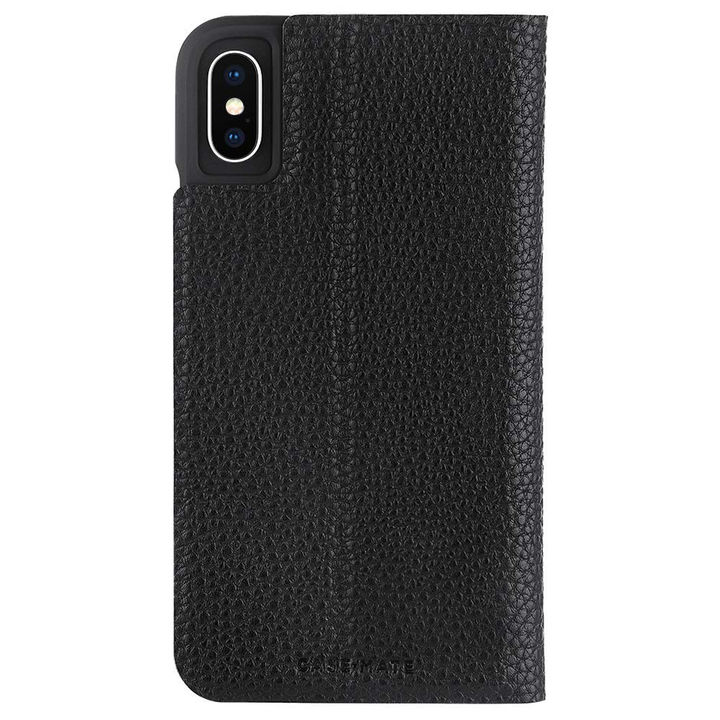 【iPhone XSケース】Case-Mate Barely There Folio 二つ折手帳型ケース black iPhone XS_0