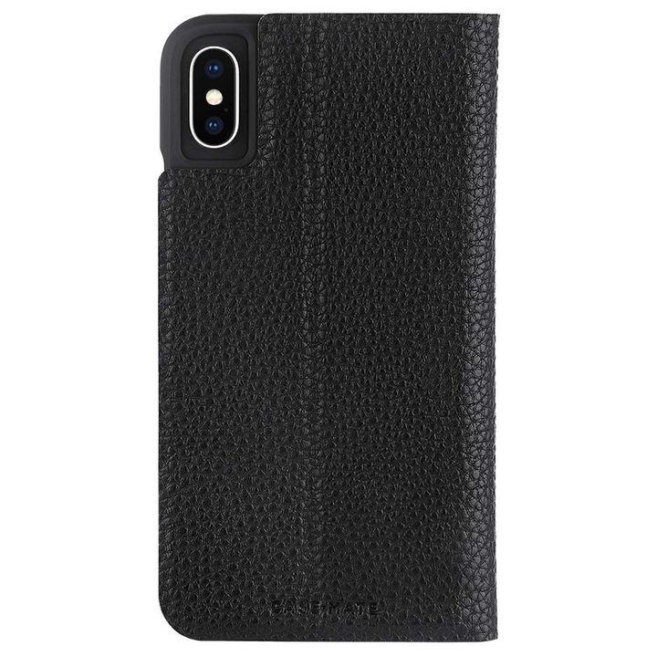 【iPhone XRケース】Case-Mate Barely There Folio 二つ折手帳型ケース black iPhone XR_0