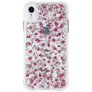 iPhone XR ケース Case-Mate Karat Petals ワイヤレス充電対応 押し花ケース pink iPhone XR