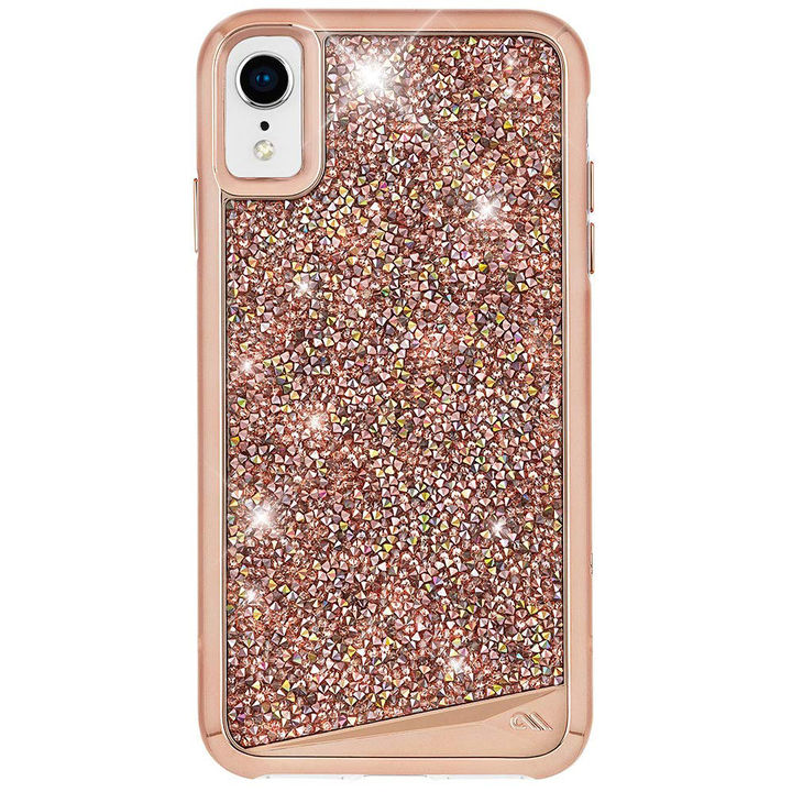 【iPhone XRケース】Case-Mate Brilliance ワイヤレス充電対応 水晶石ケース pink iPhone XR_0