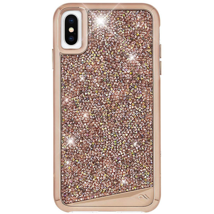 iPhone XS/X ケース Case-Mate Brilliance ワイヤレス充電対応 水晶石ケース pink iPhone XS/X_0