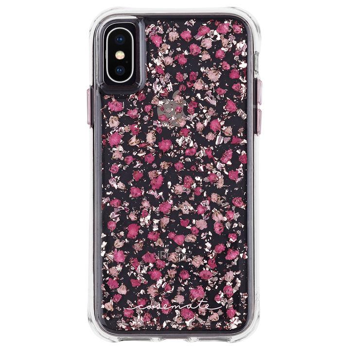 iPhone XS/X ケース Case-Mate Karat Petals ワイヤレス充電対応 押し花ケース pink iPhone XS/X_0