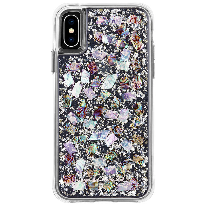 【iPhone XSケース】Case-Mate Karat-Pearl ワイヤレス充電対応 真珠貝細工ケース silver iPhone XS_0