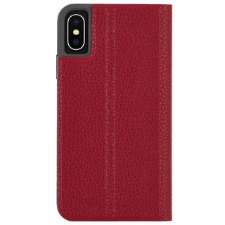 【iPhone XSケース】Case-Mate Barely There Folio 二つ折手帳型ケース red iPhone XS