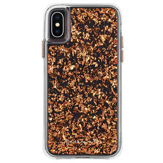 【iPhone XS Maxケース】Case-Mate Karat-Rose Gold ワイヤレス充電対応 金箔ケース pink iPhone XS Max