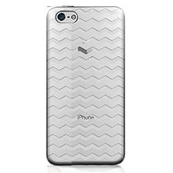 フローティングパターンカバーセット ウェーブ iPhone 5cケース_0