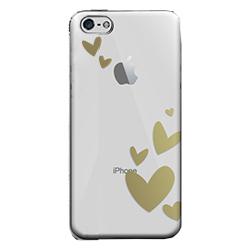 フローティングパターンカバーセット ハート iPhone 5cケース