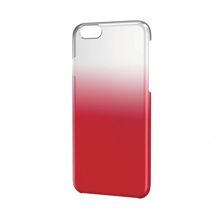 ハードグラデーションケース クリア×レッド iPhone 6ケース