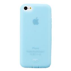 【その他のiPhone/iPodケース】抗菌シリコンケースセット ブルー iPhone 5cケース