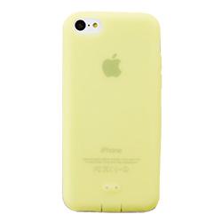 抗菌シリコンケースセット イエロー iPhone 5cケース_0