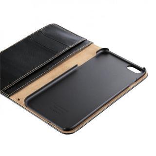 【iPhone6 Plusケース】ソフトレザースタンド手帳型ケース ブラック iPhone 6 Plusケース_2