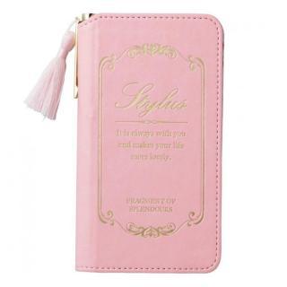 【iPhone6ケース】女子柄ソフトレザー手帳型ケース ピンク×花柄 iPhone 6ケース_1