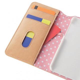 【iPhone6ケース】女子柄ソフトレザー手帳型ケース ブラウン×ドット iPhone 6ケース_2