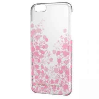 女子柄シェルケース フラワーシルエット iPhone 6ケース