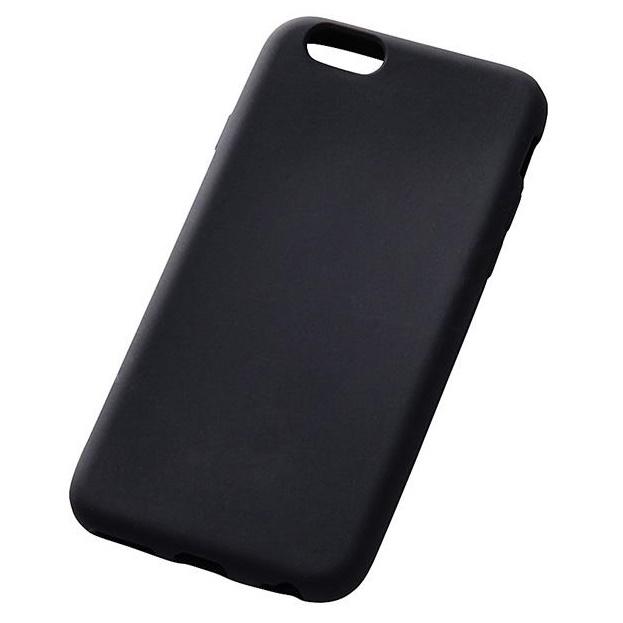 【iPhone6s/6ケース】シリコンケース ブラック iPhone 6s/6_0