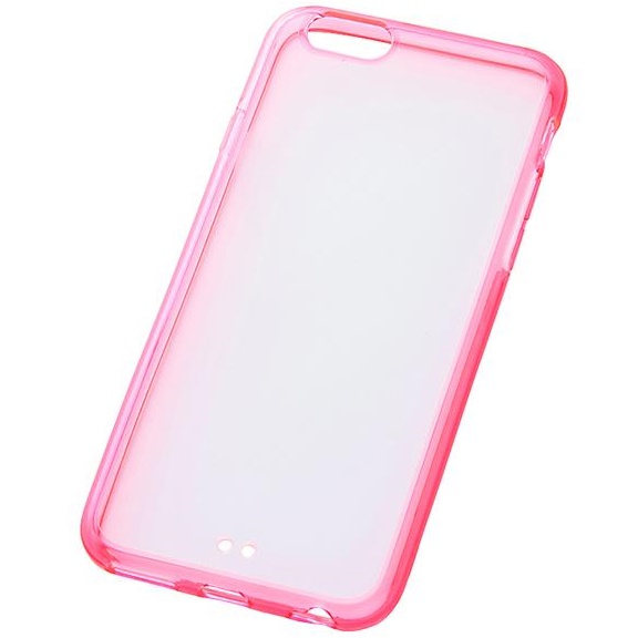 【iPhone6s/6ケース】ハイブリッドケース クリアレッド iPhone 6s/6_0
