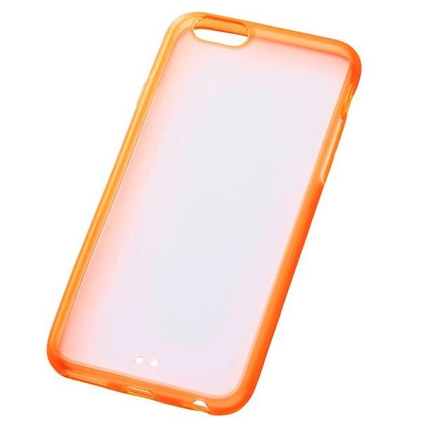 iPhone6s/6 ケース ハイブリッドケース クリアオレンジ iPhone 6s/6_0