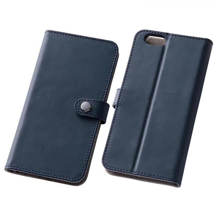 iPhone6s/6 ケース シンプルレザー手帳型ケース ダークネイビー iPhone 6s/6_0