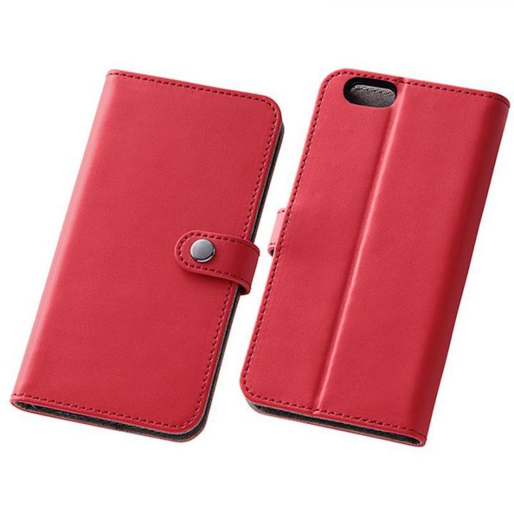iPhone6s/6 ケース シンプルレザー手帳型ケース レッド iPhone 6s/6_0