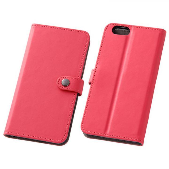 iPhone6s/6 ケース シンプルレザー手帳型ケース ビビッドピンク iPhone 6s/6_0