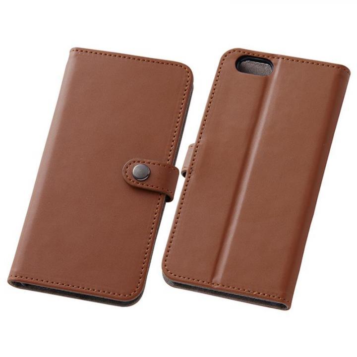 iPhone6s/6 ケース シンプルレザー手帳型ケース ブラウン iPhone 6s/6_0