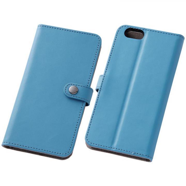 iPhone6s/6 ケース シンプルレザー手帳型ケース ブルー iPhone 6s/6_0