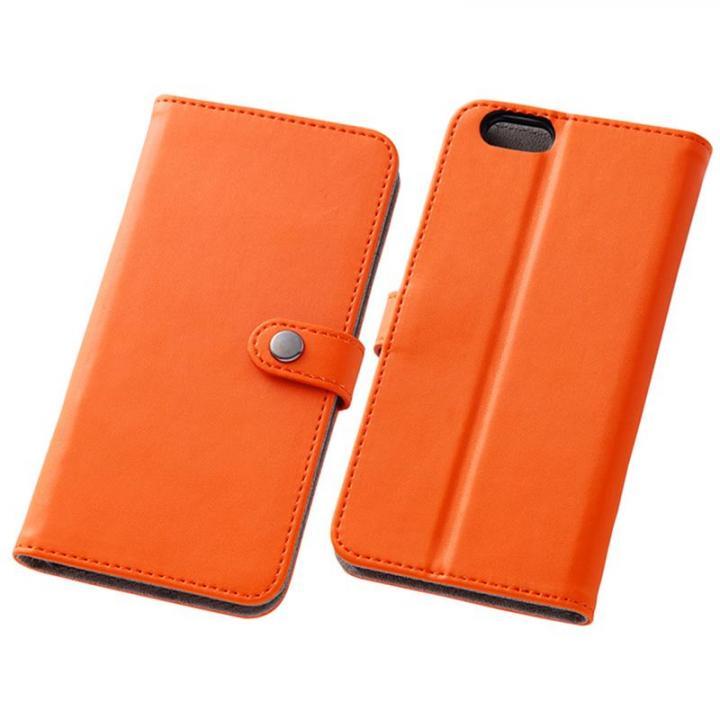 iPhone6s/6 ケース シンプルレザー手帳型ケース オレンジ iPhone 6s/6_0