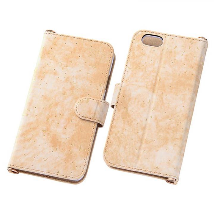 【iPhone6s/6ケース】デザインレザー手帳型ケース グレイスゴールド iPhone 6s/6_0
