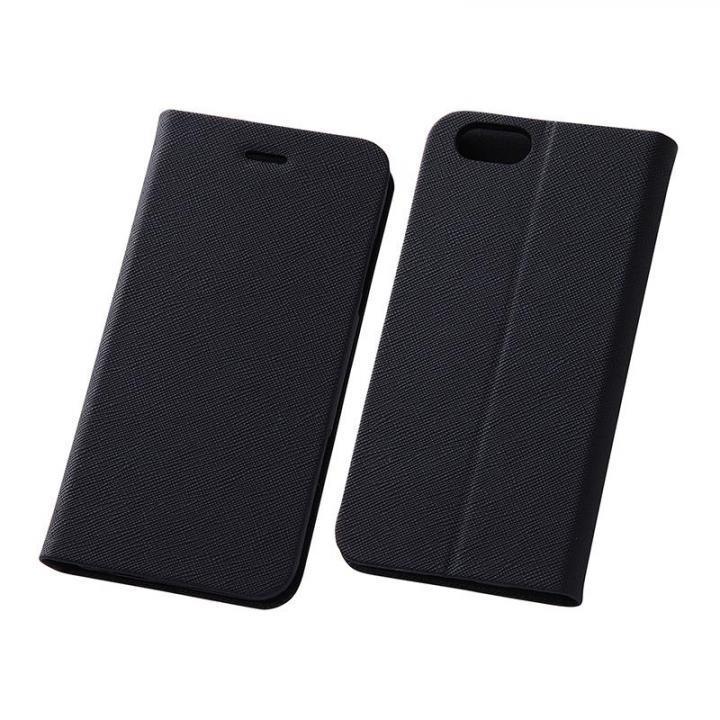 【iPhone6s/6ケース】スマートレザー手帳型ケース 十字紋ブラック iPhone 6s/6_0
